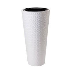 FORM-PLASTIC Doniczka Diament slim H56 fi 30 cm  BIAŁY