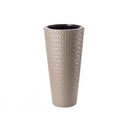 FORM-PLASTIC Doniczka Diament slim H79 FI40 cm CAFFE LATTE