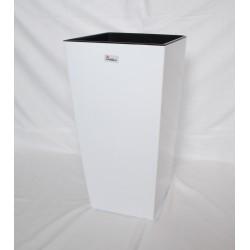 Doniczka finezja z wkładem 30x30,  H 57cm BIAŁY