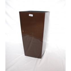 Doniczka finezja z wkładem 30x30,  H 57cm MOKKA