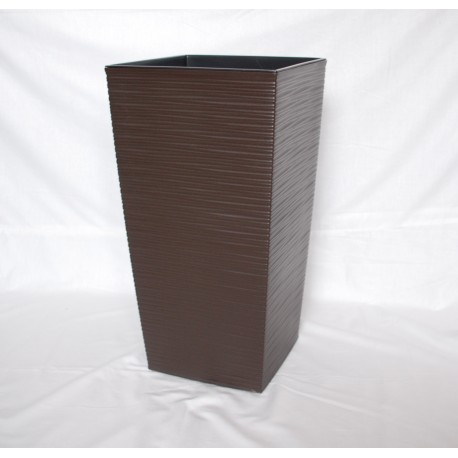 Doniczka finezja dłuto z wkładem 30x30,  H 57cm MOKKA