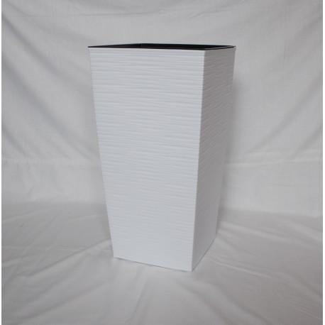Doniczka finezja dłuto z wkładem 25x25, H 46 cm BIAŁY