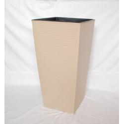 Doniczka finezja dłuto z wkładem 25x25, H 46 cm CAPPUCINO