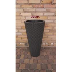PROSPERPLAST matuba doniczka z wkładem fi 40 H 78 UMBRA