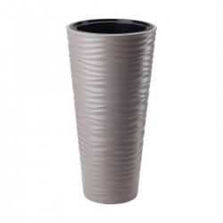 FORM-PLASTIC Doniczka Sahara Slim H68 fi35 cm SZAROBEŻOWY