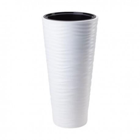 FORM-PLASTIC Doniczka Sahara Slim H68 fi35 cm BIAŁY