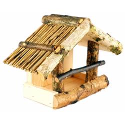 Karmnik drewniany dla ptaków na okno