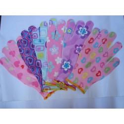 Kolorowe rękawice ogrodowe – 6 par