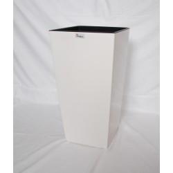 Doniczka finezja z wkładem 14x14,  H 26cm KREMOWY