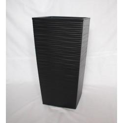 Doniczka finezja dłuto z wkładem 30x30,  H 57cm CZARNY