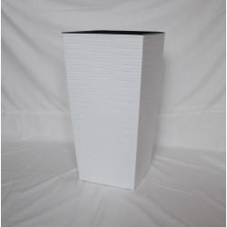 Doniczka finezja dłuto z wkładem 30x30,  H 57cm BIAŁY