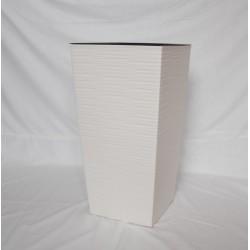 Doniczka finezja dłuto z wkładem 30x30,  H 57cm KREMOWY