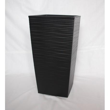 Doniczka finezja dłuto z wkładem 25x25, H 46 cm CZARNY