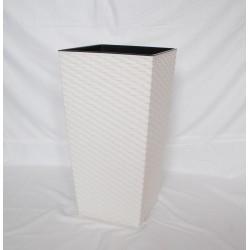 Doniczka finezja rattan z wkładem 25x25, H 46 cm KREMOWY