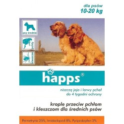 Krople przeciw pchłom i kleszczom dla psa 10-20kg
