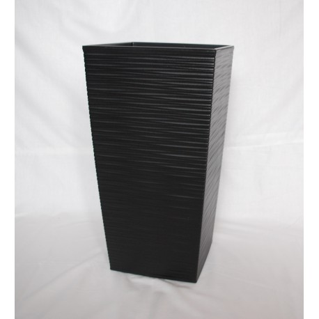 Doniczka finezja dłuto z wkładem 40x40,  H 76cm CZARNY