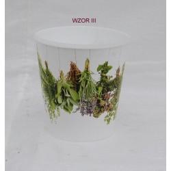 Doniczka na zioła z nadrukiem - wzór nr 3
