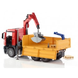 BRUDER 03651 Mercedes Arocs ciężarówka z dźwigiem HDS