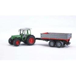 BRUDER 02104 Traktor Fendt Farmer z przyczepą