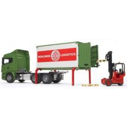 BRUDER 03580 Scania  kontenerem i wózkiem