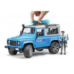 BRUDER 02597 Land Rover policja z figurką